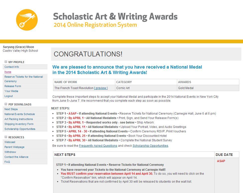 2018 Scholastic Art & Writing Awards National Teen Recipients Announced